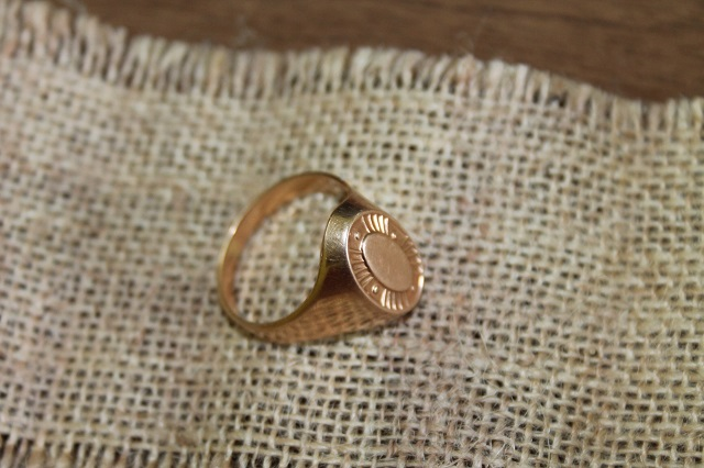 Кольцо Золото 7,37 гр печатка 583 Серп и Молот Звезда СССР