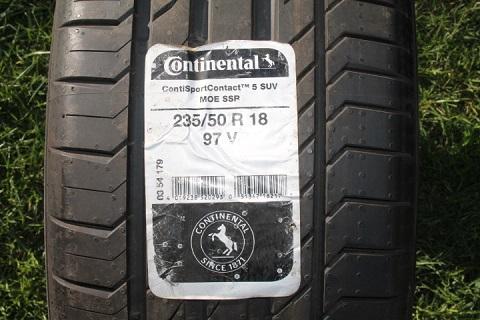 235 50 R18 97V Continental Conti Sport Contact 5 SSR MOE 420 AA A Germany 0615
